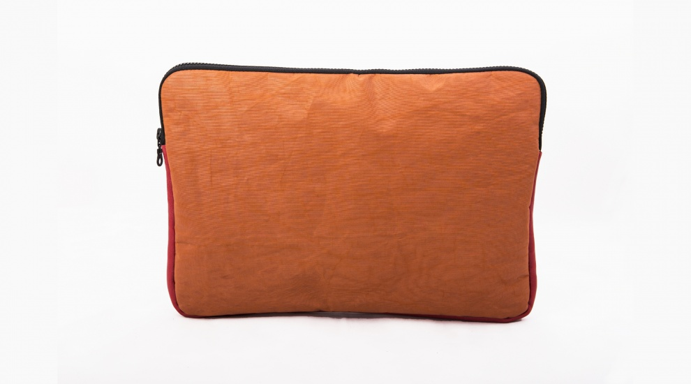 "15"" Laptop case, Rust Orange, front"