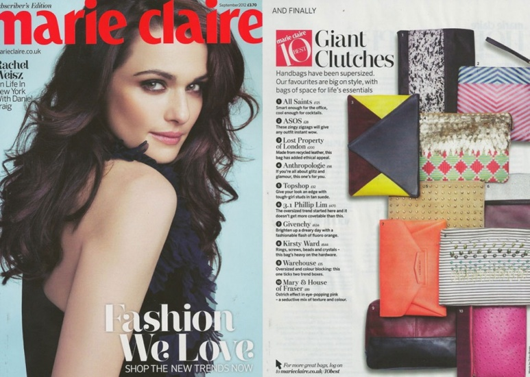 Marie Claire September 2012 Article